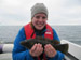 Helena Berggren with a Wrasse.